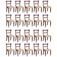 Set of Twenty Regency Dining Chairs