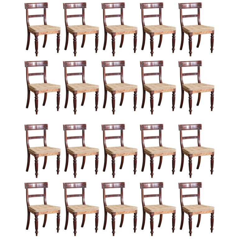 Set of Twenty Regency Dining Chairs For Sale