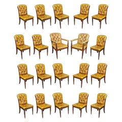 Set of Twenty Regency Style Mahogany Dining Room / Conference Room Chairs