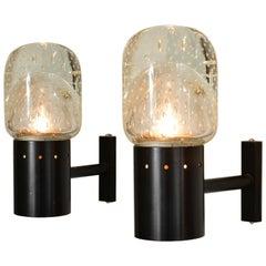 Set of Two 1950s Italian Seguso Bubble Wall Lights