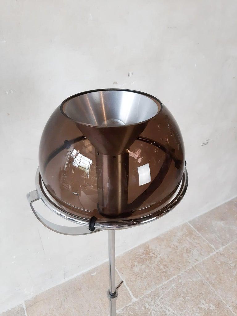 Set of Two 1960s Globe Floor Lamps by Frank Ligtelijn for RAAK Amsterdam For Sale 3