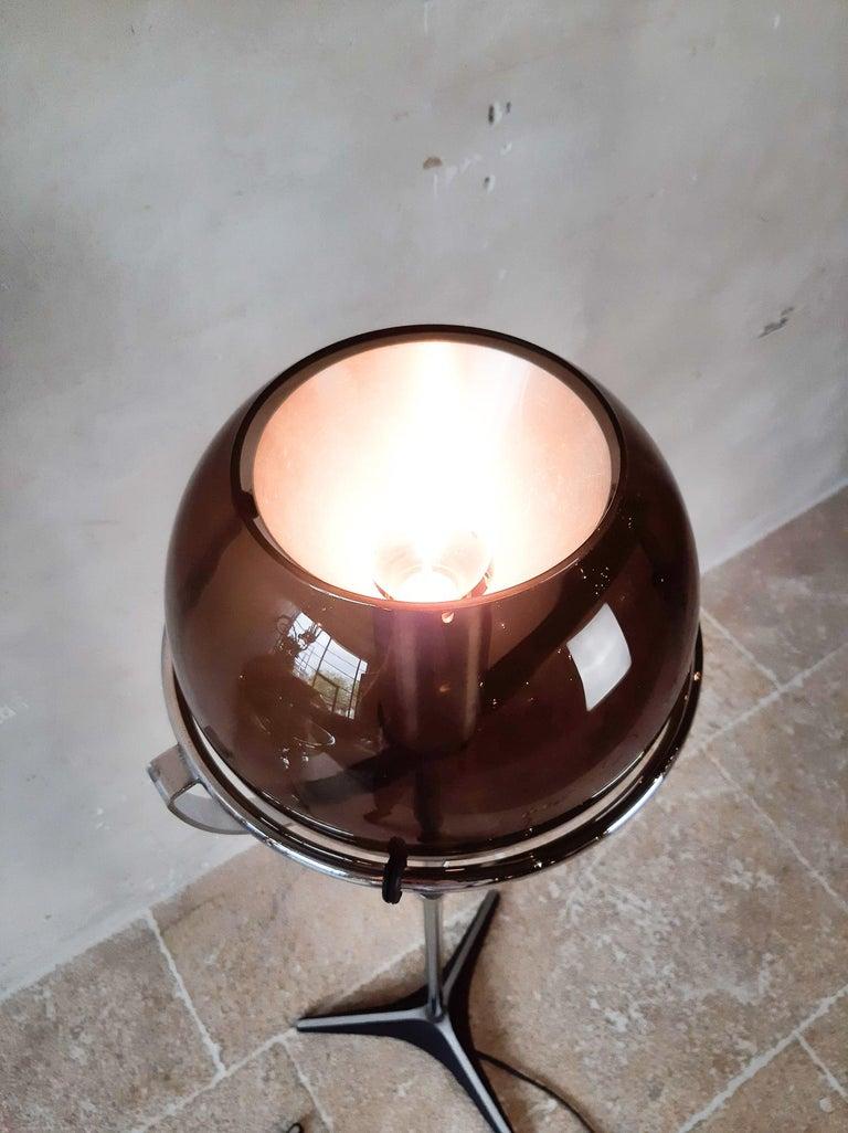 Set of Two 1960s Globe Floor Lamps by Frank Ligtelijn for RAAK Amsterdam For Sale 11