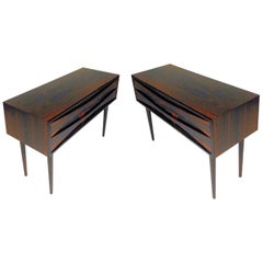 Set of Two 1960s Rosewood Nightstands