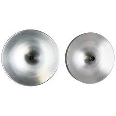 Set of Two 1970s Charlotte Perriand Style Disc Wall Light by Staff, Germany