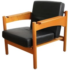 Set of Two 1970s Leather Armchairs