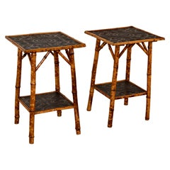 Set of Two 19th Century Bamboo Side Tables