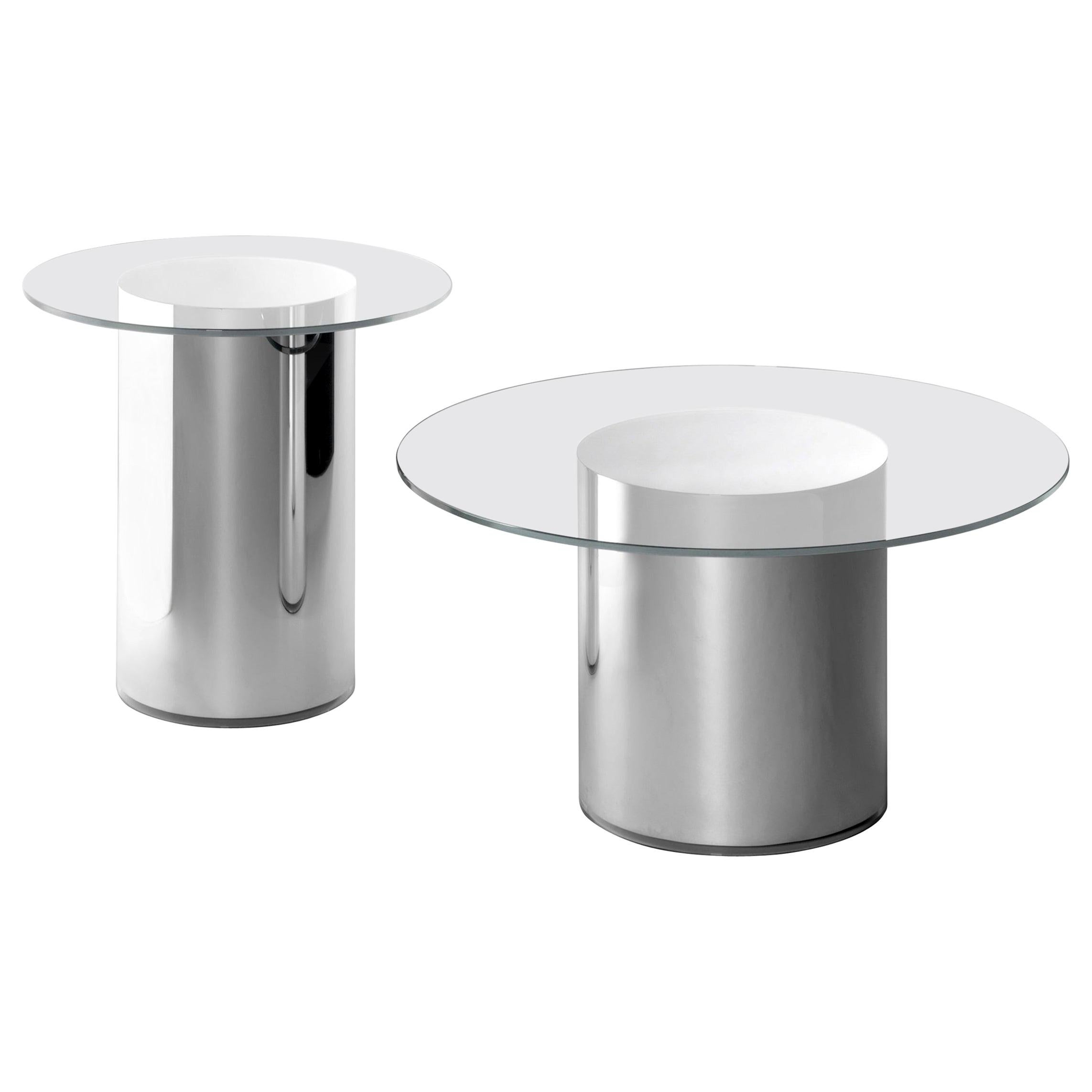 Set of Two 2001 Side Tables by Ramon Úbeda and Otto Canalda