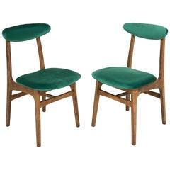 Set of Two 20th Century Dark Green Rajmund Halas Chairs, 1960s