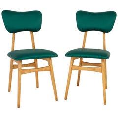 Set of Two 20th Century Dedar Tabularasa Green Chairs, 1960s