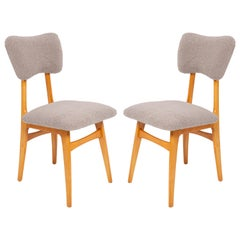 Set of Two 20th Century Gray Boucle Chairs, 1960s
