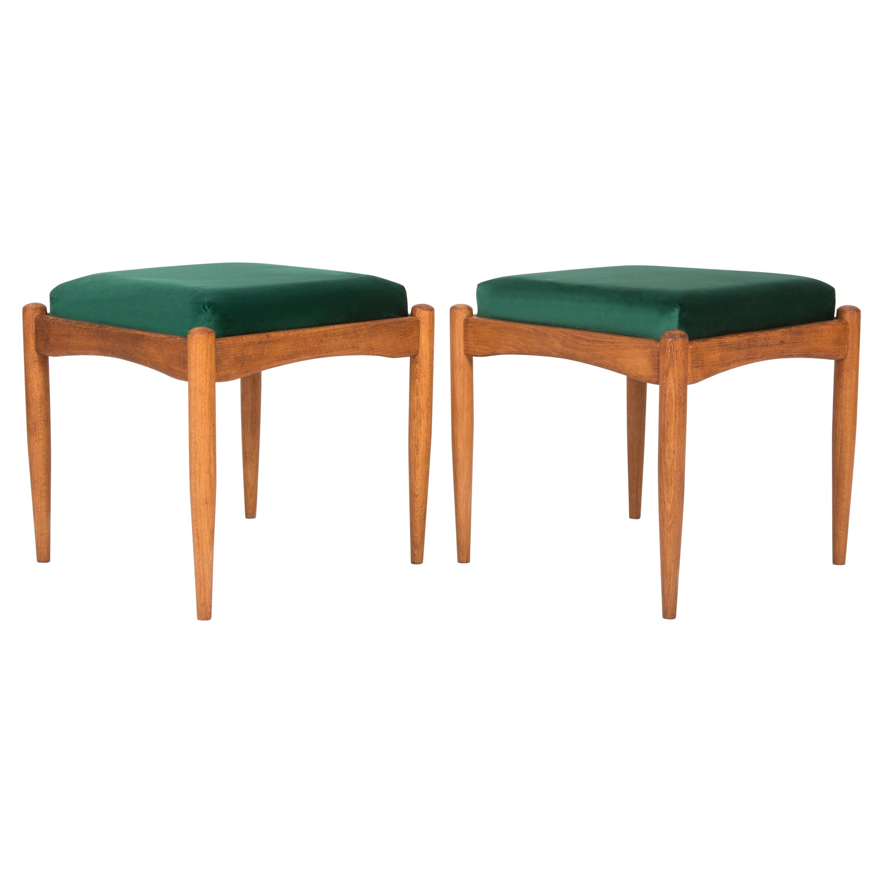 Set of Two 20th Century Green Stools, 1960s