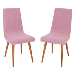 Set of Two 20th Century Pink Mélange Rajmund Halas Chairs, 1960s