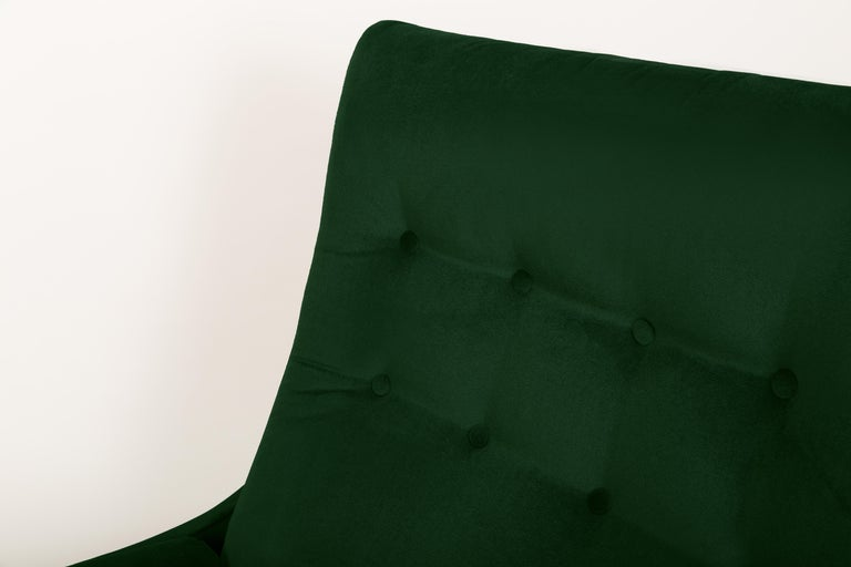 Set of Two 20th Century Vintage Green Velvet Giant Atlantis Armchairs, 1960s For Sale 4