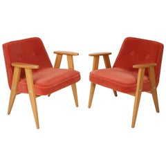 Set of Two 366 Armchair, Jozef Chierowski, 1960s