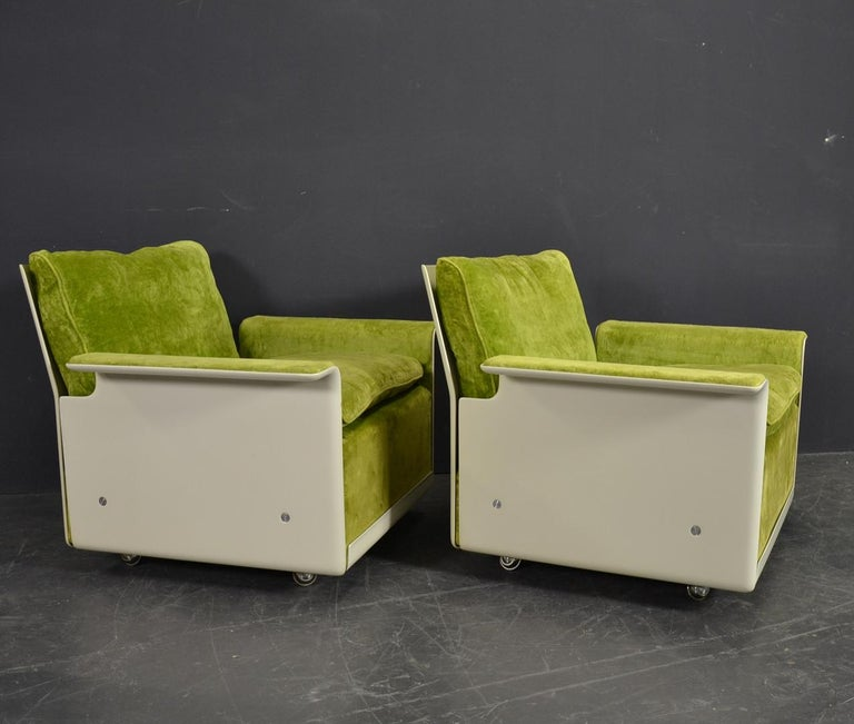Mid-Century Modern Set of Two 620 Easy Chairs by Dieter Rams for Vitsoe For Sale