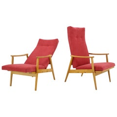 Set of Two Adjustable Armchairs, Thon, 1970