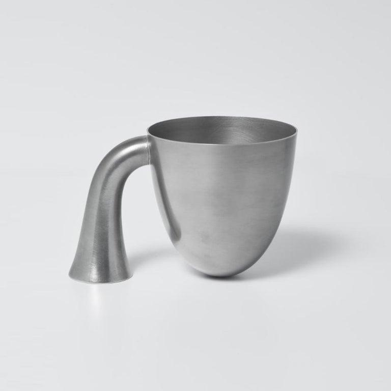 Mid-Century Modern Set of Two Aldo Bakker Tin Vessel 'Support' by Karakter For Sale