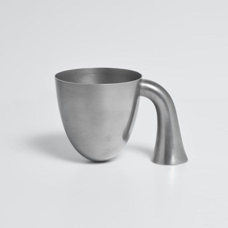 Danish Set of Two Aldo Bakker Tin Vessel 'Support' by Karakter For Sale
