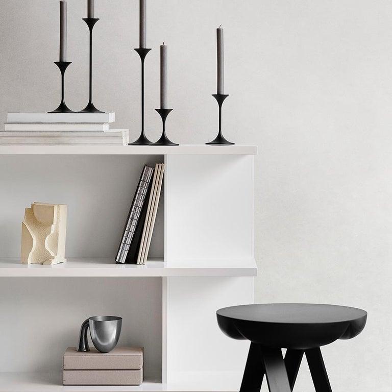 Contemporary Set of Two Aldo Bakker Tin Vessel 'Support' by Karakter For Sale