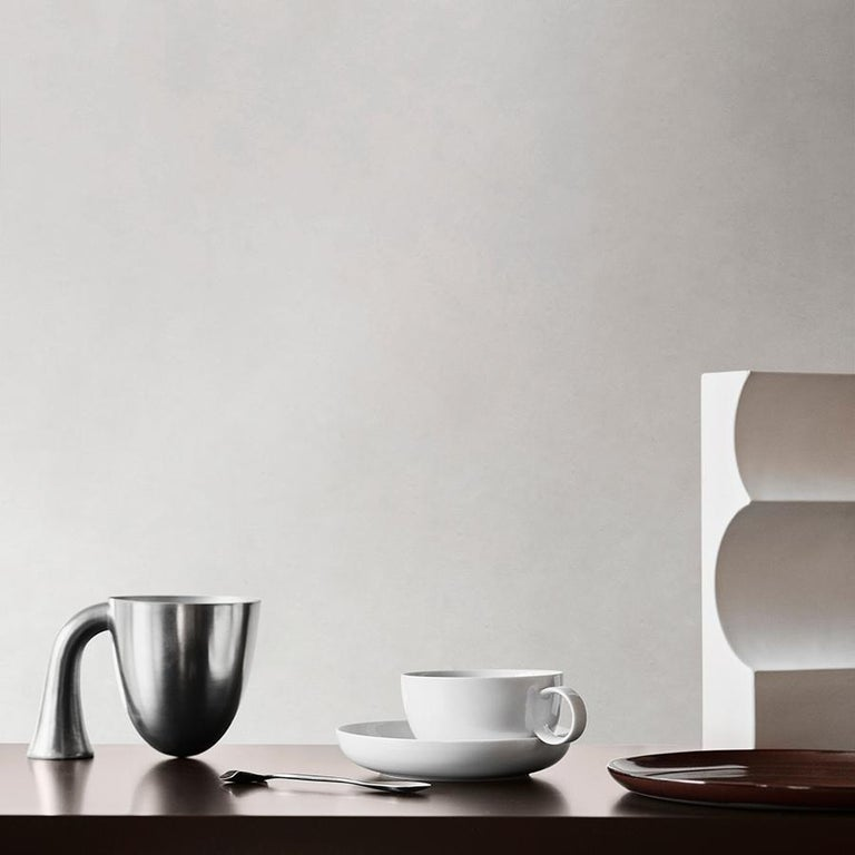 Set of Two Aldo Bakker Tin Vessel 'Support' by Karakter For Sale 3