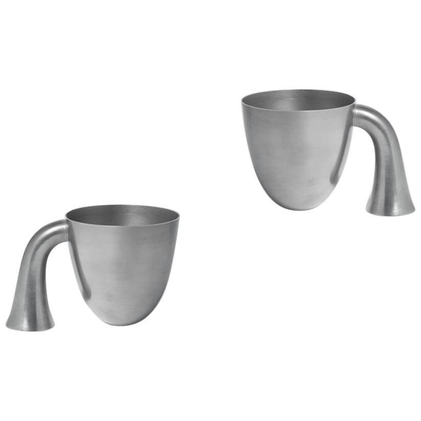 Set of Two Aldo Bakker Tin Vessel 'Support' by Karakter