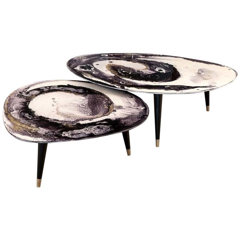 Set of Two Amorfi Smoking Tables For Sale