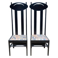 Set of Two 'Argyle' Chair Designed by Charles Rennie Mackintosh