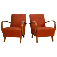 Set of Two Armchairs by Jindrich Halabala, 1950s