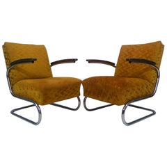 Set of two armchairs by Jindřich Halabala, Bauhaus - Műcke & Meider, 1930s
