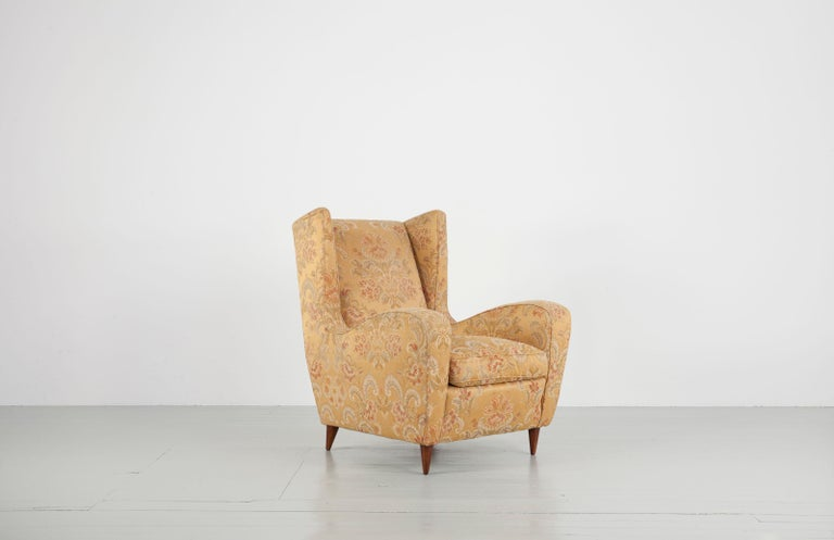 Melchiorre Bega Set of Two Ornamental Armchairs, 1950s In Fair Condition For Sale In Wolfurt, AT