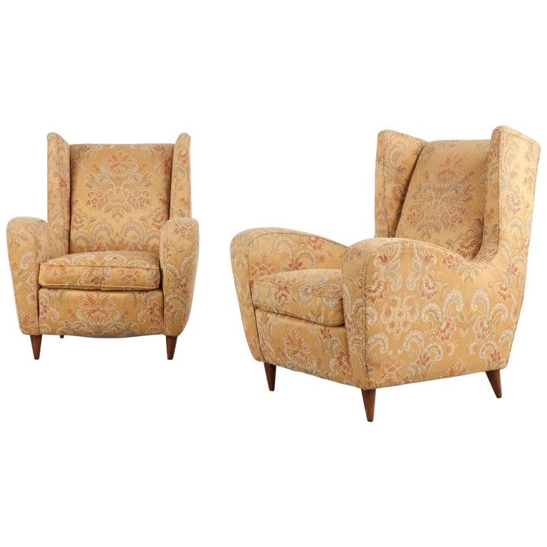 Melchiorre Bega Set of Two Ornamental Armchairs, 1950s For Sale