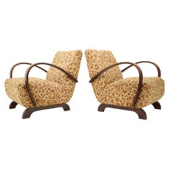 Set of Two Armchairs Designed by Jindrich Halabala, 1930's