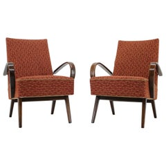 Set of Two Armchairs Designed by Jindřich Halabala, 1950s