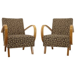 Set of Two Armchairs Designed by Jindřich Halabala, Czechoslovakia