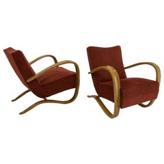 Set of Two Armchairs H269 by Jindrich Halabala, 1940s