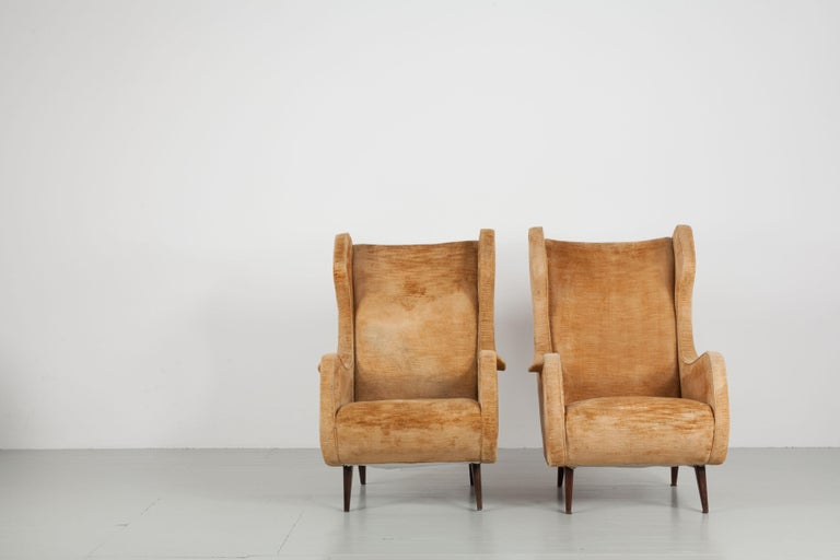 Set of Two Armchairs, Italy, 1950s For Sale 4