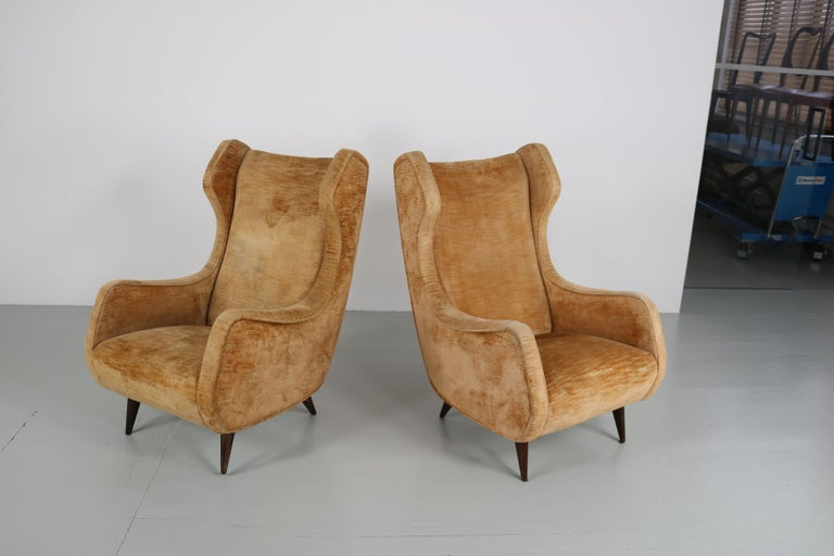 Set of Two Armchairs, Italy, 1950s For Sale 5