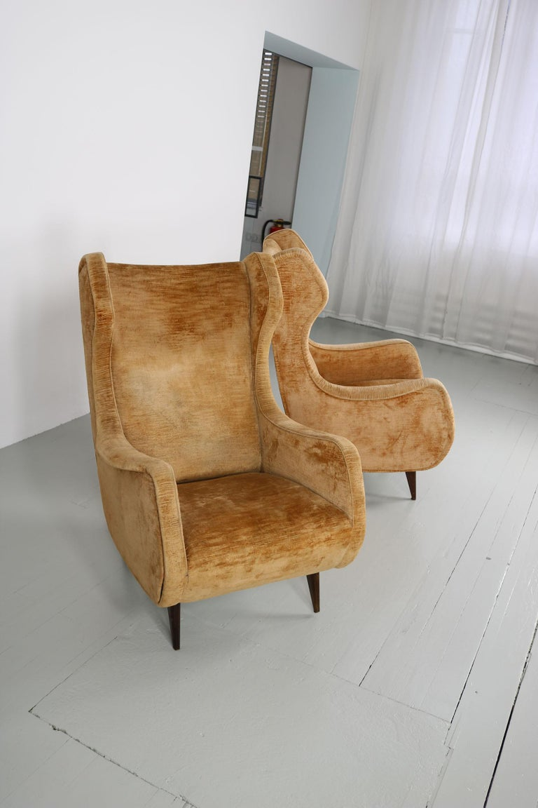 Set of Two Armchairs, Italy, 1950s For Sale 8
