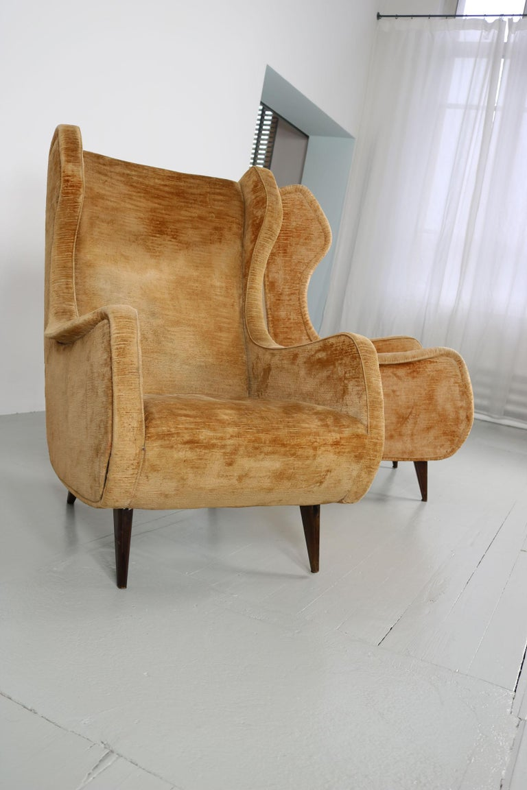 Set of Two Armchairs, Italy, 1950s For Sale 9