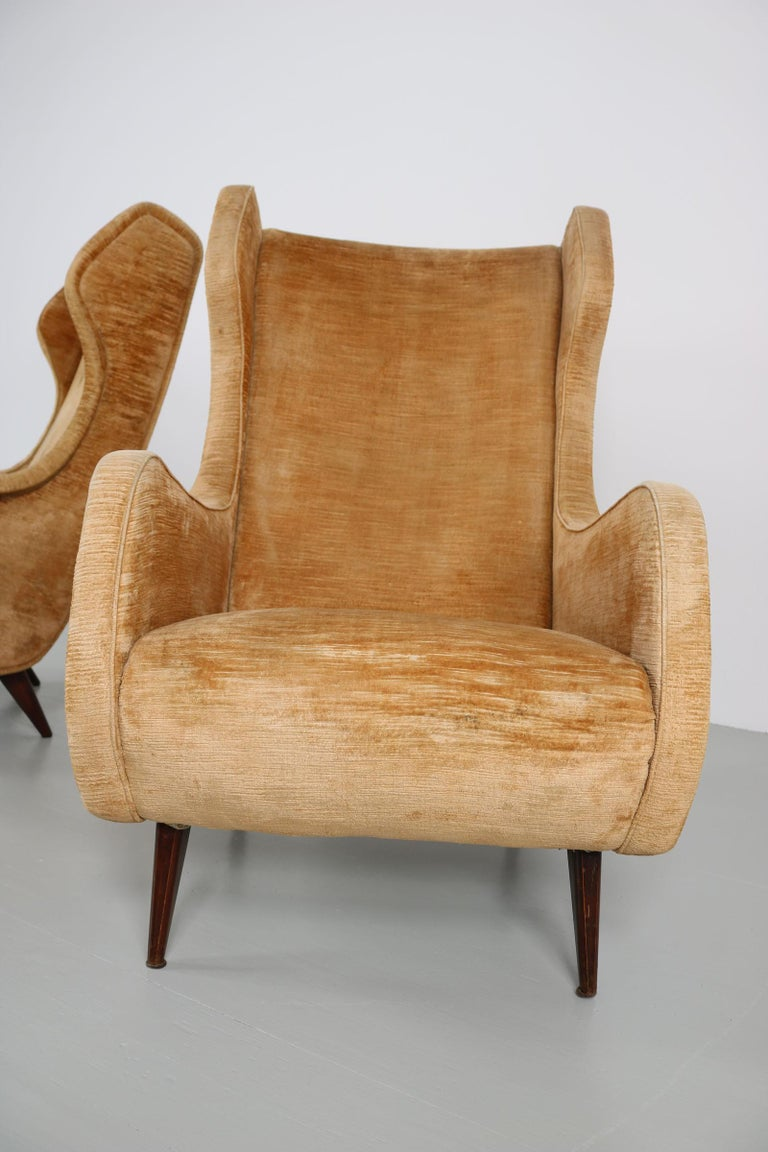 Set of Two Armchairs, Italy, 1950s For Sale 10