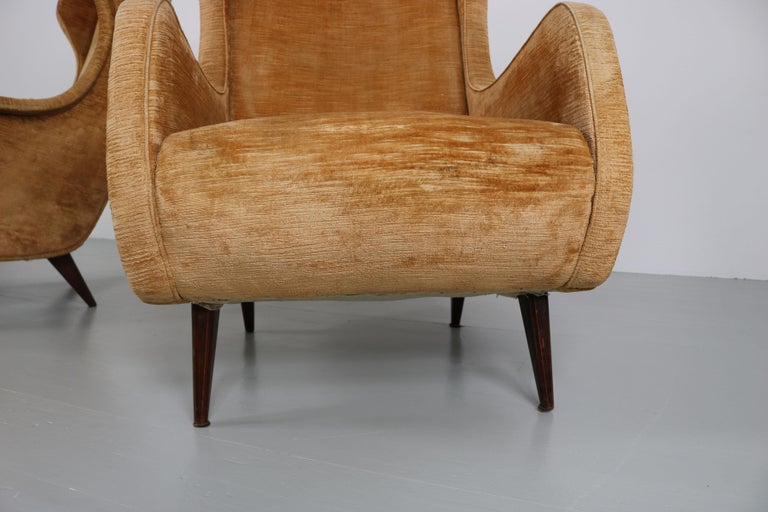 Set of Two Armchairs, Italy, 1950s For Sale 11