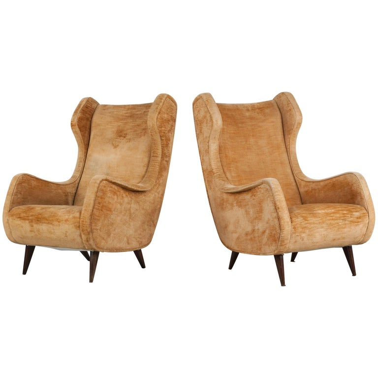 Set of Two Armchairs, Italy, 1950s For Sale