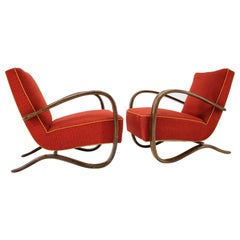 Set of Two Art Deco Armchairs H-269 by Jindřich Halabala, 1930s