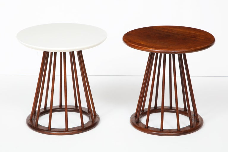 Mid-Century Modern Set of Two Arthur Umanoff Side Tables for Washington Woodcraft For Sale