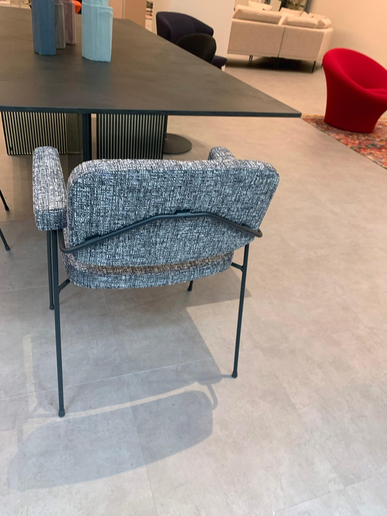 Set of Two Artifort Moulin Chairs in Raf Simons Fabric by Pierre Paulin For Sale 7