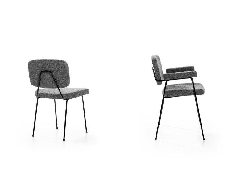 Dutch Set of Two Artifort Moulin Chairs in Raf Simons Fabric by Pierre Paulin For Sale