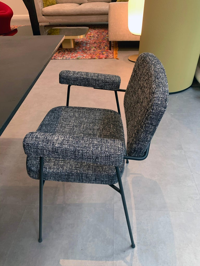 Set of Two Artifort Moulin Chairs in Raf Simons Fabric by Pierre Paulin For Sale 3