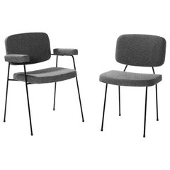 Set of Two Artifort Moulin Chairs in Raf Simons Fabric by Pierre Paulin