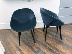 Set of Two Artifort Velvet Beso Armchairs Designed by Khodi Feiz.