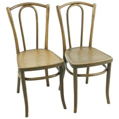 Set of Two Bentwood Chairs, circa 1920